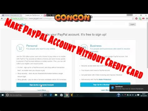 make a paypal account without credit card make a paypal account without a credit card