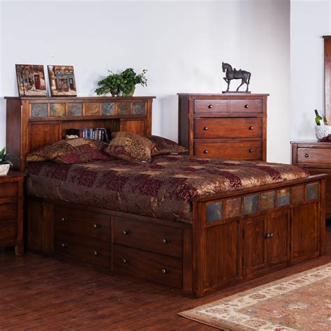 designs 2333dc s santa fe storage bed with slate