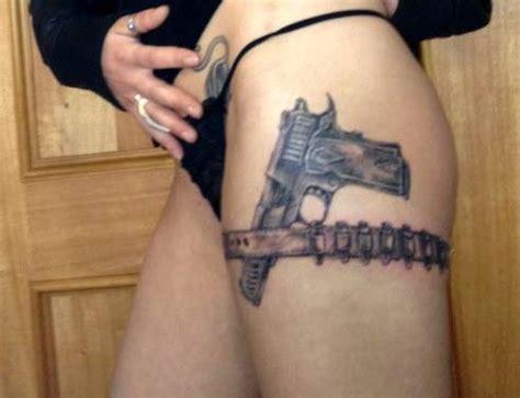 tattoo gun thigh gun thigh tattoos designs ideas and meaning tattoos for you