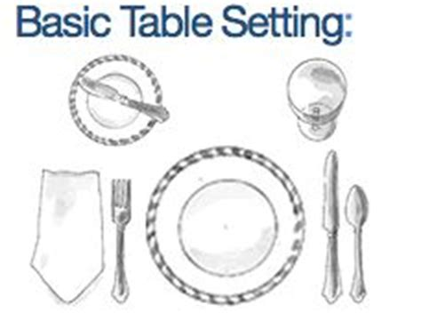 basic table setting how to set a table table etiquette pinterest tables