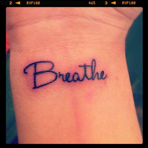 breathe tattoo just breathe wrist www imgkid the image kid