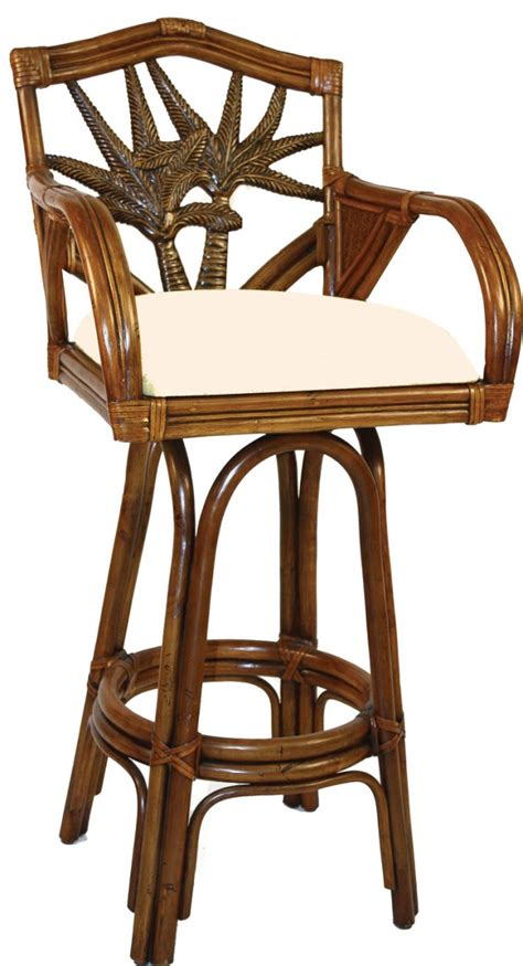 Rattan Swivel Counter Stools by Palm Indoor Swivel Rattan Wicker 24 Quot Counter