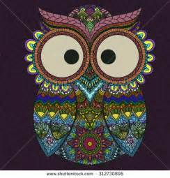 colored owls tribal owl stock photos royalty free images vectors