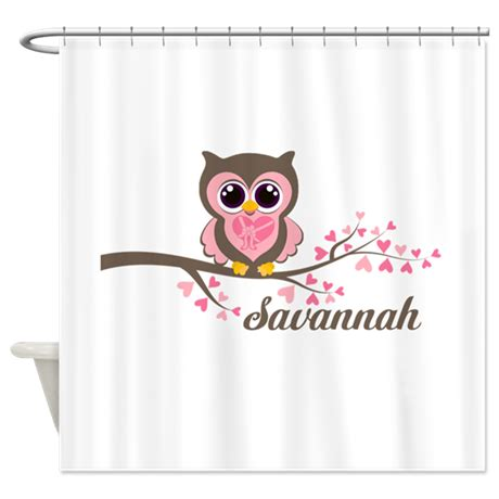 valentine shower curtain custom valentines day owl shower curtain by seasonschange1