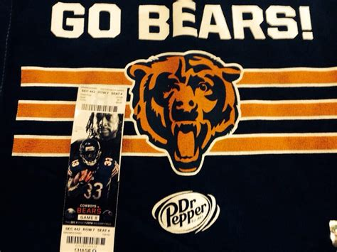 gem s ticket to game 8 tnf 12 4 14 bears v cowboys soldier field chicago il - Chicago Bears Game Day Giveaway