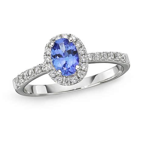 Tanzanite Rings by Petit Tanzanite Oval Halo Ring Richland Gemstones
