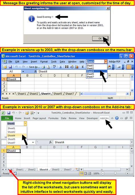 excel 2010 tutorial drop down list tom s tutorials for excel sheet selector drop down list