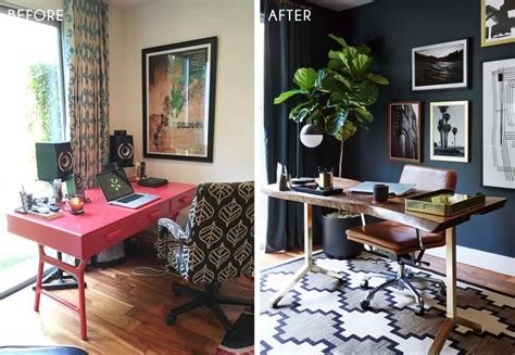 home office looks moody mid century home office shop the look emily