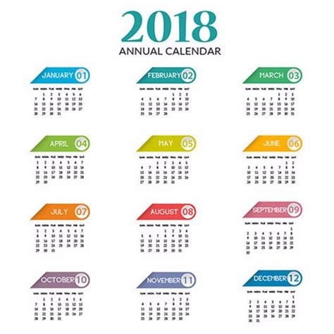 Calendar 2018 Annual Annual Calendar 2018 Template Free On Pngtree