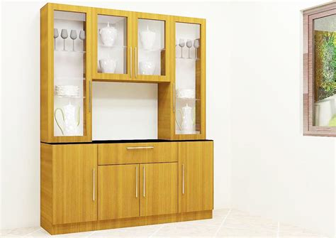 U Shaped Kitchens Designs by Buy Godid Crockery Unit With Laminate Finish Online In India