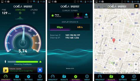 android speed test speedtest 3 0 l interface de l application remise au go 251 t du jour