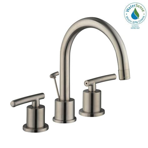 Home Depot Kitchen Sink Faucet Glacier Bay Dorset 8 In Widespread 2 Handle High Arc