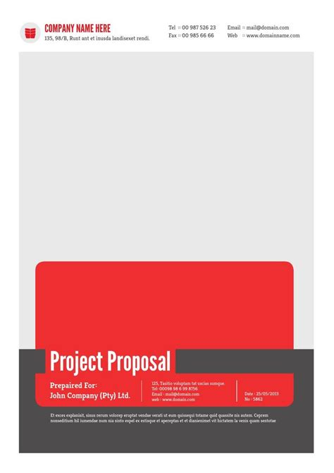 project proposal template  proposals words  templates