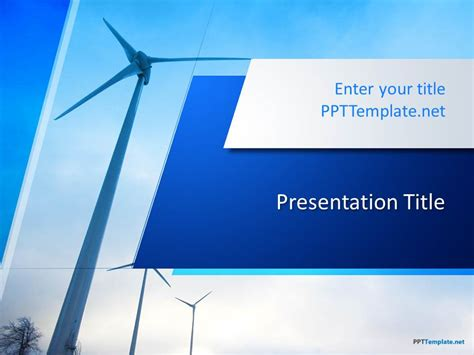 powerpoint themes wind energy free wind energy ppt template