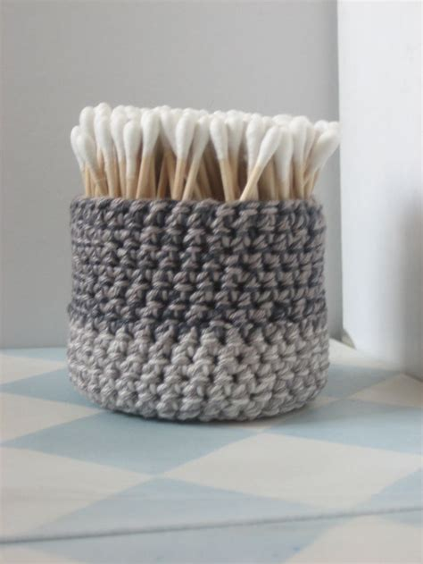 small bathroom baskets crochet basket small bath accessory nest for your pretty things