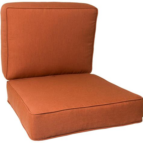 outside cushions patio furniture ultimatepatio small replacement outdoor club chair cushion set with piping canvas paprika