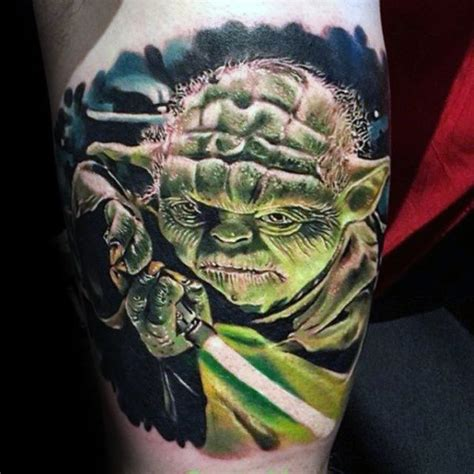 yoda tattoos 60 yoda designs for jedi master ink ideas