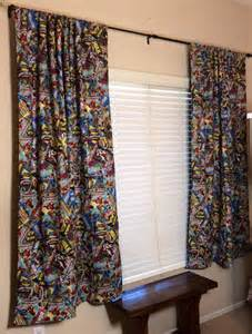 Comic Book Curtains Marvel Retro Comic Book Curtains By Crysmirandadesigns On Etsy