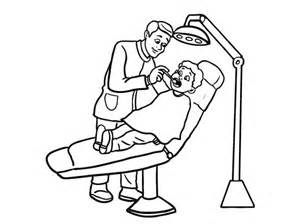 Dentist And Little Boy Coloring Pages  Bulk Color sketch template