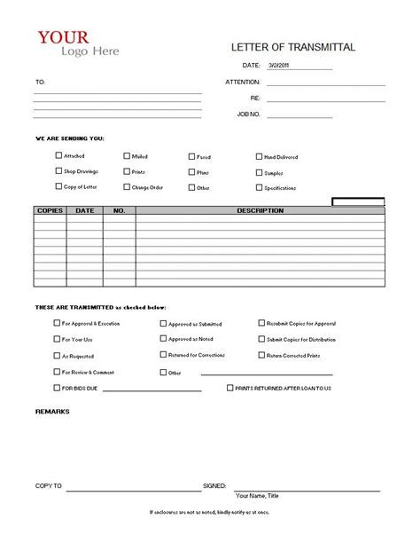 sample transmittal form 9 examples in pdf