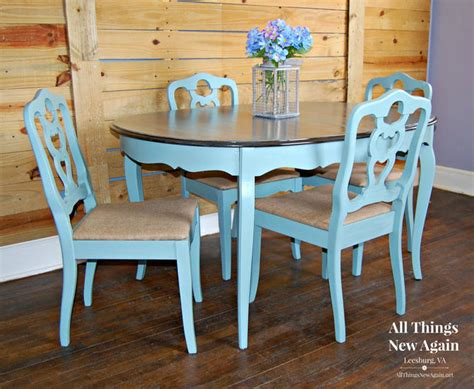 dining table   chairs dining set painted vintage