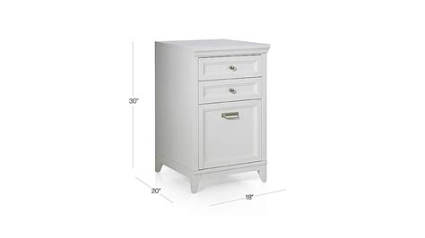 Crate And Barrel File Cabinet Harrison 18 Quot White 3 Drawer Filing Cabinet Crate And Barrel
