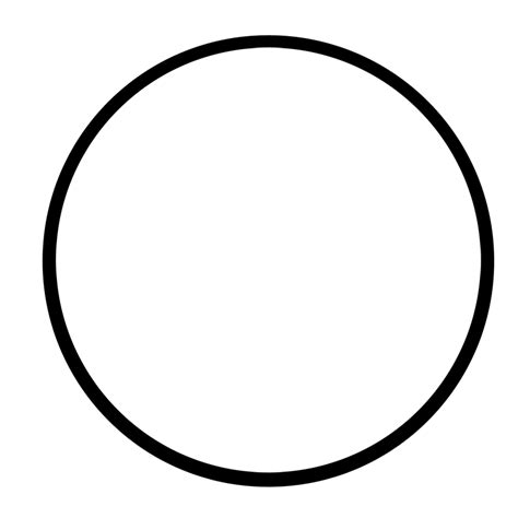Circle Black Outline white circle 1