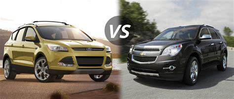 ford edge vs chevy equinox 2014 ford escape vs 2014 chevy equinox