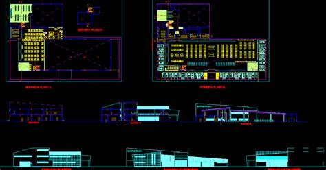 Supermarket project   DWG File   Architecture World