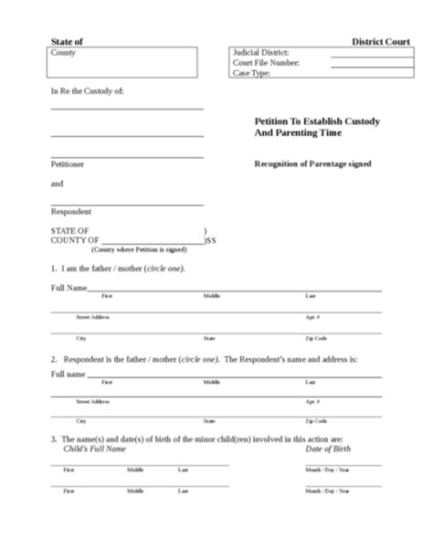 free guardianship template custody agreement legalforms org