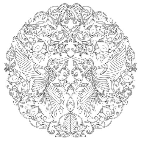 secret garden coloring book owl free coloring pages of johanna basford