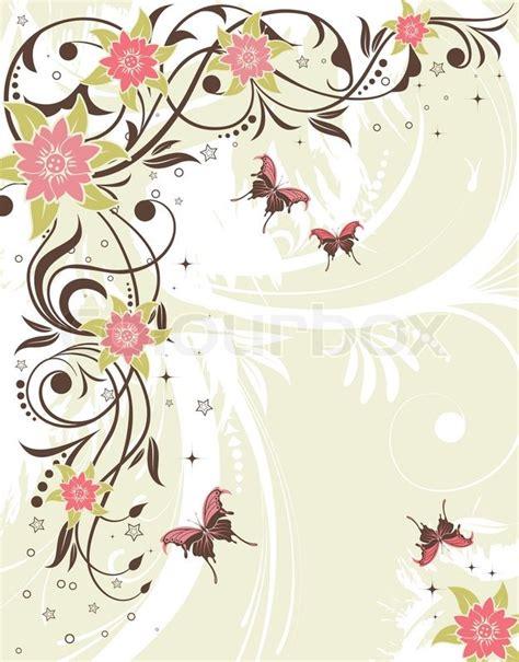 floral grunge frame elements royalty free vector image grunge flower frame with butterfly element for design vector illustration stock vector