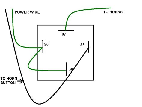 bosch relay wiring diagram for horn wiring diagram and