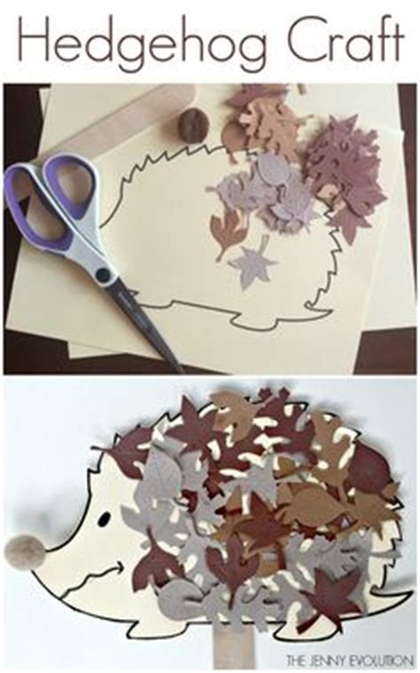 Paper Craft Four Toed Hedgehog fall leaves butterfly s for crafts children can bring in any type of leaves to