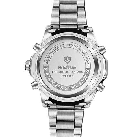 Jam Gc Stainless Steel weide jam tangan pria stainless steel wh6105 black jakartanotebook