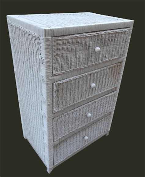 Small Wicker Chest Of Drawers by Uhuru Furniture Collectibles White Wicker Chest Of