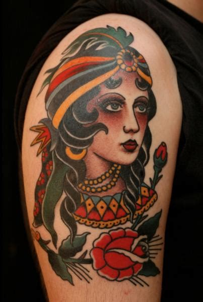 new school gypsy tattoo pin old school gypsy tattoo rate this current rating 5