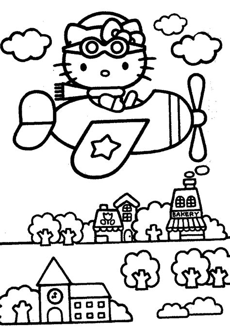 hello kitty coloring pages only hello kitty coloring pages