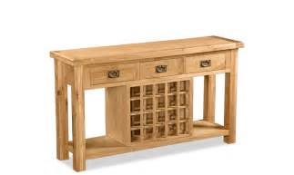 oakley console table with wine rack console tables