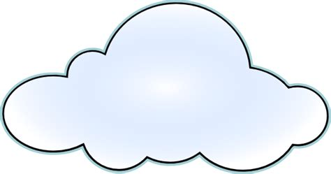 printable cloud template   clip art