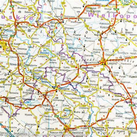 map on road southern poland road map reise how mapscompany