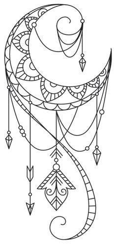 coloring pages moon dreamcatcher las 25 mejores ideas sobre tatuaje en el hombro de