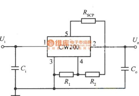 integrated circuit ic voltage regulators 5 terminal adjustable integrated voltage regulator cw200 standard application circuit power