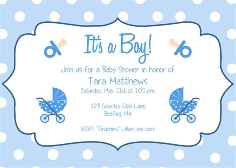 Boy Baby Shower Party Invitation Template It S A Baby Shower Invitation Templates For Boy