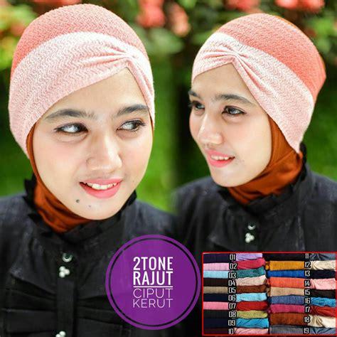 Inner Anti Pusing Ciput Arab Kerut Rajut 7 twotone rajut ciput kerut sentral grosir jilbab kerudung i supplier jilbab i retail grosir
