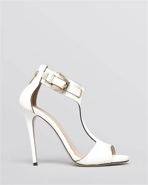 t high heel sandals lyst le silla open toe t high heel sandals in white