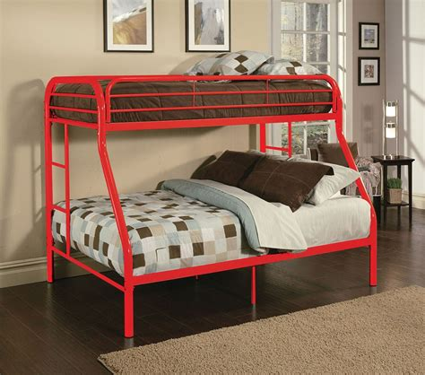 red twin bed dreamfurniture com 02053 red finish twin full bunk bed