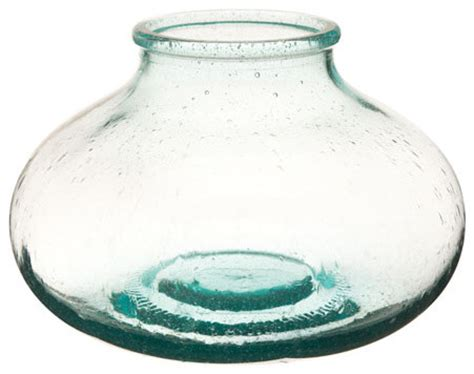 Shallow Vase by Recycled Glass Shallow Bottle Vase Vases