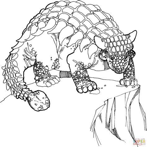 euoplocephalus coloring page coloriage ankylosaure du cr 233 tac 233 coloriages 224 imprimer