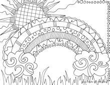 detailed rainbow coloring page super awesome fun rainbow a couple of free nature